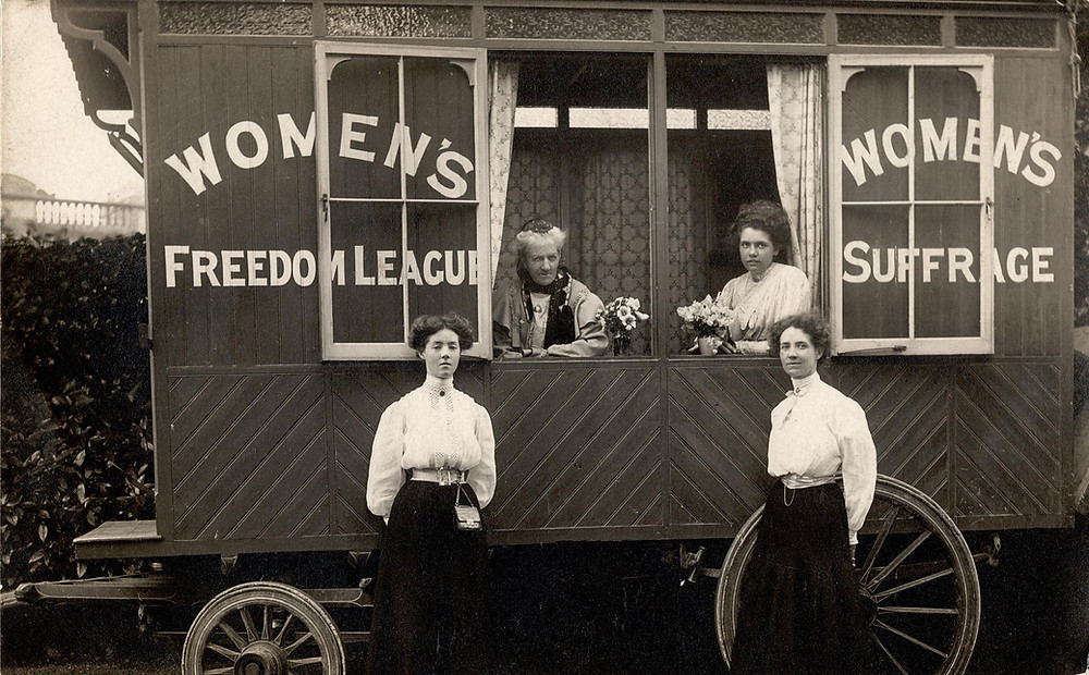 Violet and Irene Tillard (front), Charlotte Despard and Alison Neilans (back) ©LSE Women's Library