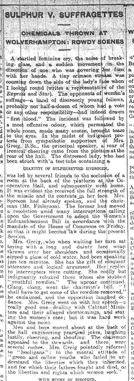Sulphur v. Suffragettes