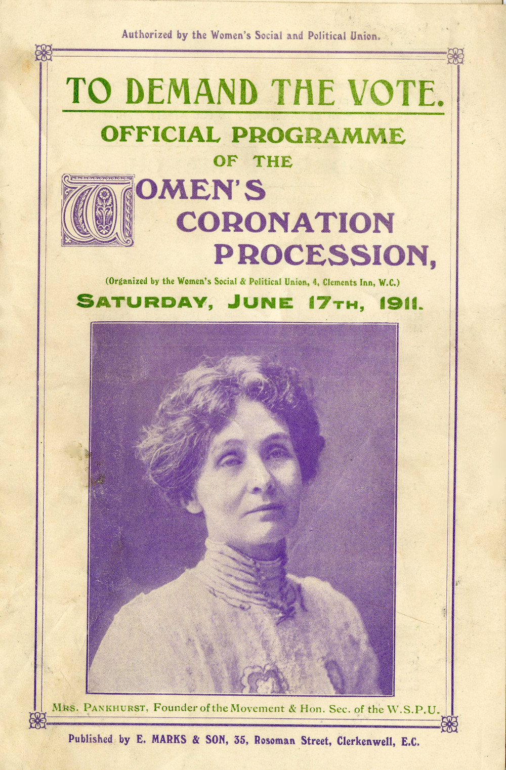 WSPU Programme. Source & Copyright: The Women's Library (LSE).