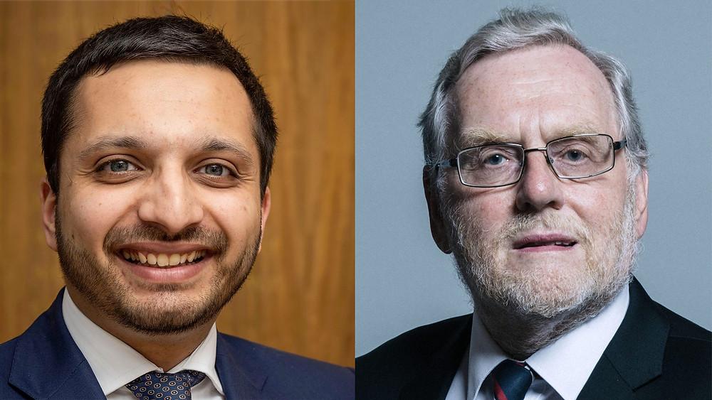 (left) Saqib Bhatti, MP for Meriden and (right) John Spellar, MP for Warley