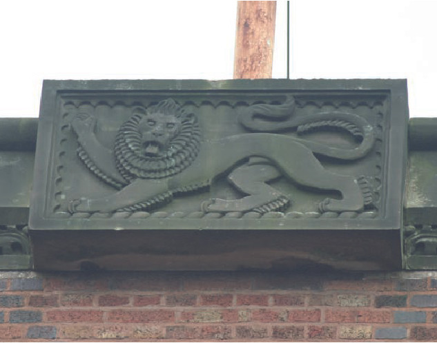 Relief by William Bloye, above central window