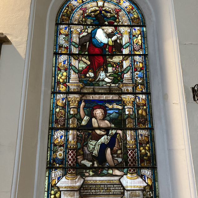 Example of stained glass in the church