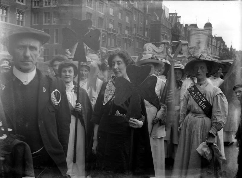 The Irish section of the procession. Source: The Museum of London.