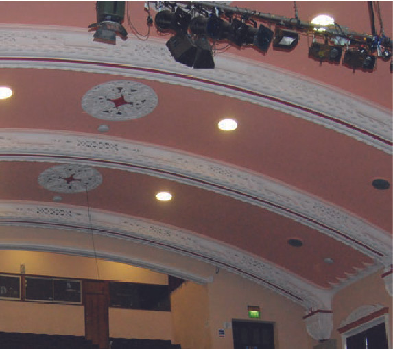 Architectural detailing inside Dudley town hall.