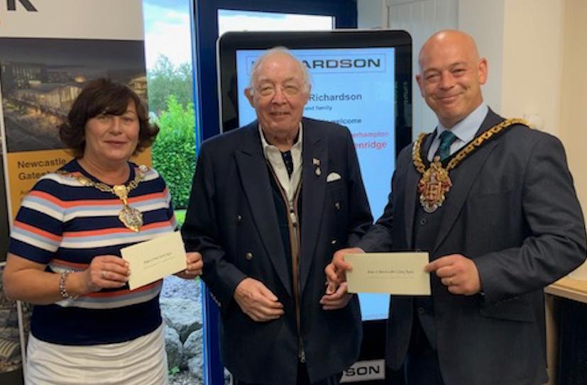 Councillor Anne Millward, Mayor of Dudley, Dr Roy Richardson and Councillor Greg Brackenridge, Mayor of Wolverhampton