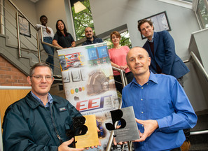 Award sponsors meet victorious Excitation & Engineering Services