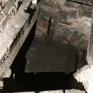 Remains of a mediaeval crypt.