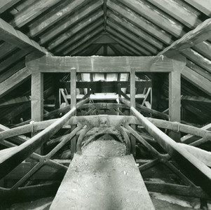 Belt & braces. Cast iron spans and timber roof  structure.