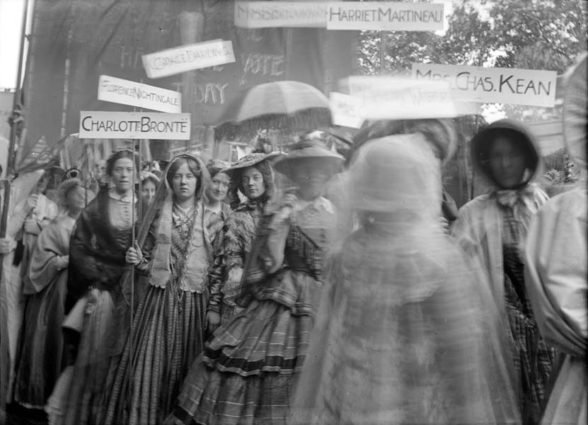 The 'Historical Pageant of Great Women' section of the procession photographed by Christina Broom. Source: The Museum of London.