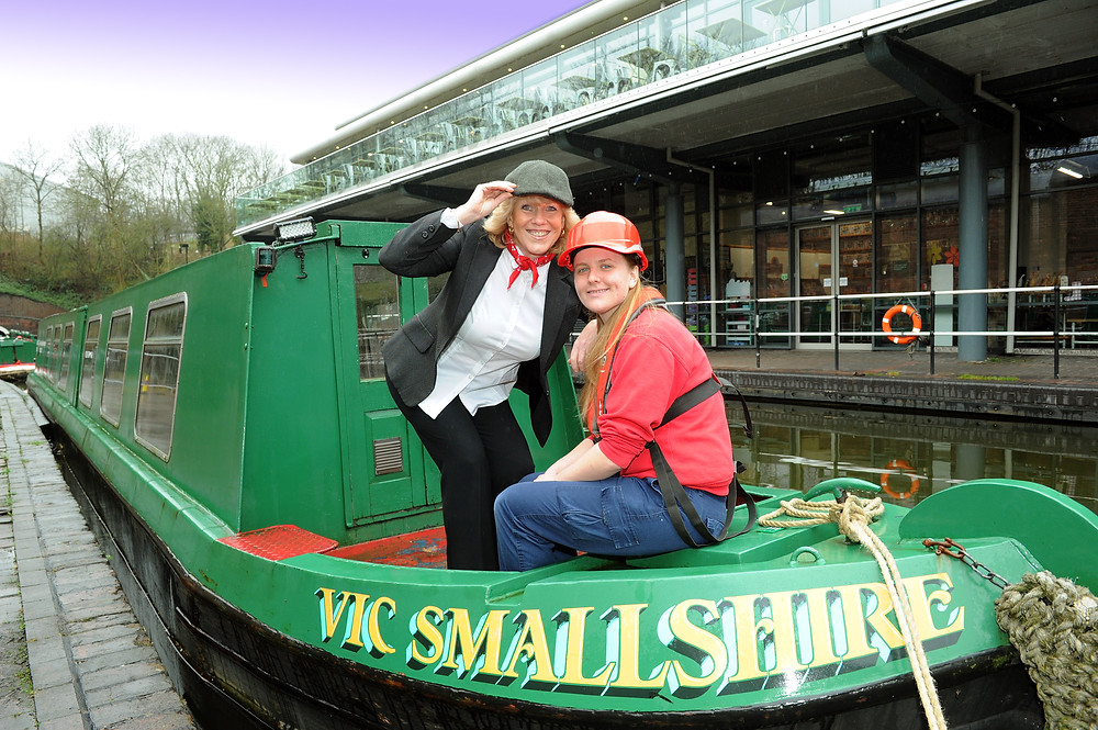 Amanda Anderson from RBF with Becky Wright from Dudley Canal Trust
