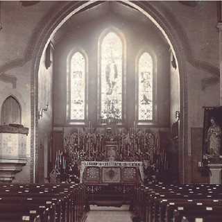 Early twentieth century photograph of east end (Diocesan archive)