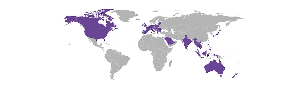 RCL Geographical Coverage Map