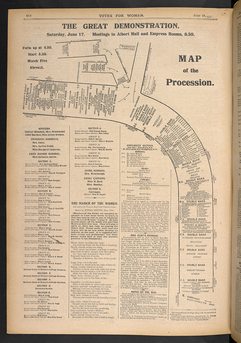 The Great Procession map demonstrates the scale and planning of the procession. Source: The British Library.