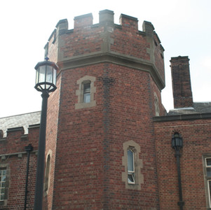 Three storey mock barbican gatehouse