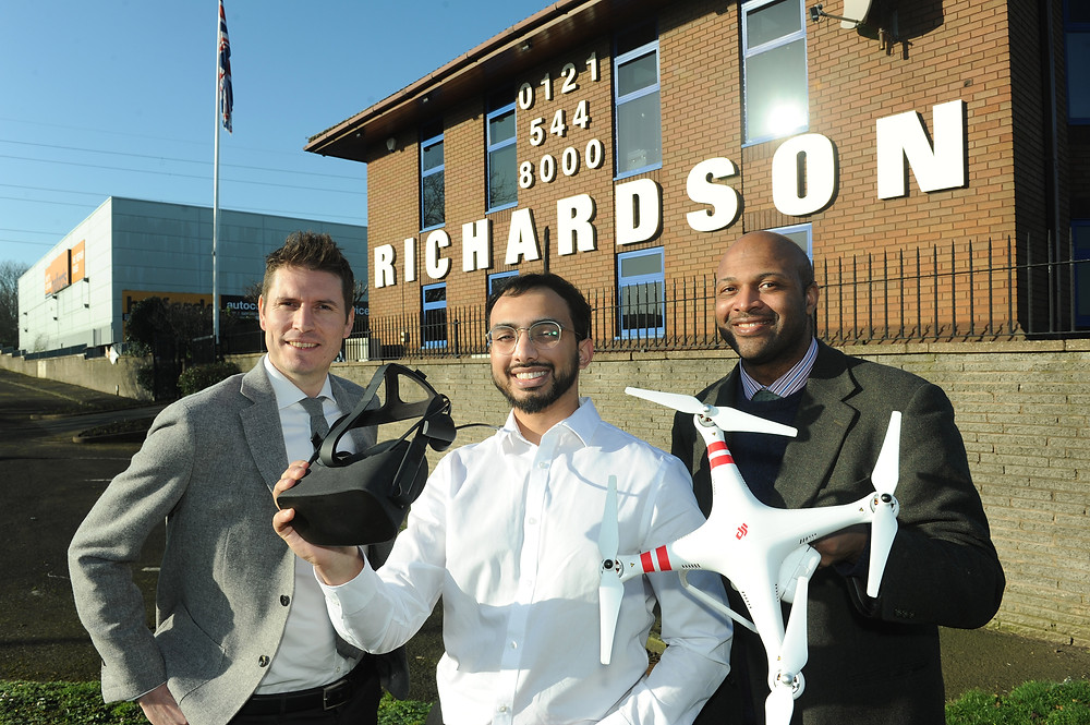 Joe Robinson, Investment Manager at RCL – Iman Hussain, Bursary winner, Professor Herbert Daly
