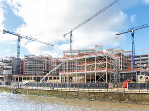 Milburngate's 4,000 tonne steel frame completed