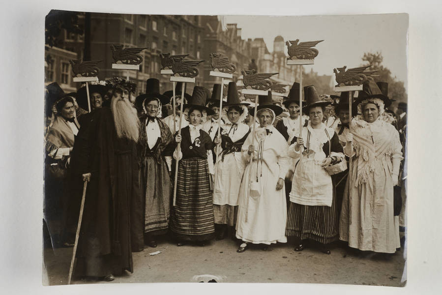 The Welsh section of the procession. Source: The Museum of London.