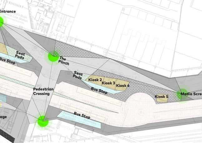 Transport hub plan concept