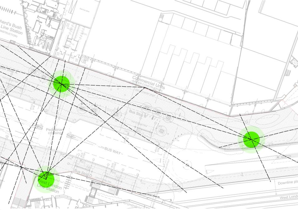 Transport hub visitor flow analysis