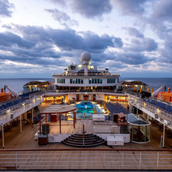 The Carnival Elation cruise ship en route to The Bahamas.