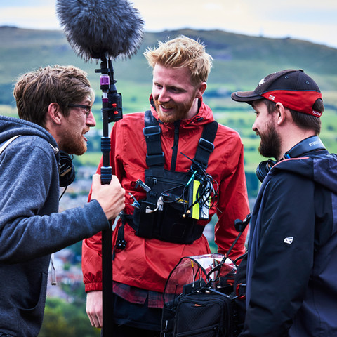 Adam Shatwell, Andy Perch and Martyn Ellis on location.