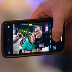Photographer Joe Garza takes a selfie within a selfie.