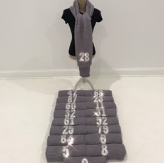 Grey Scarves with Bling Numbers
