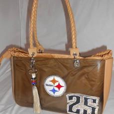 Leather Steelers Purse