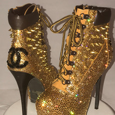 Chanel Studded Timberland Stilettos