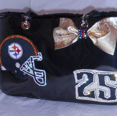 Steelers Black bag with Bow