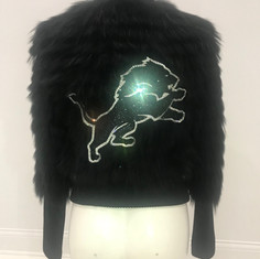 Black Fur Custom Team Jacket