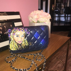 Sophia Painted Handbag