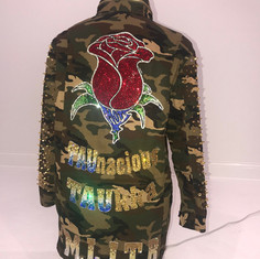 Custom Camo Rose Jacket