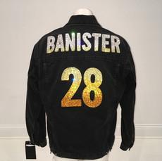 Banister Black Denim Custom Swarovski Jacket