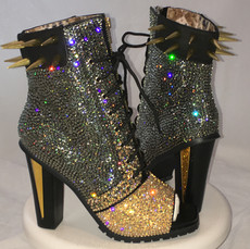Studded & Spiked High Heel Boots