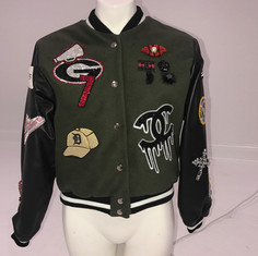 Custom Patch Bomber Jacket