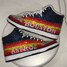 Houston Astros Bedazzled Hightops