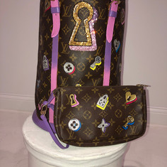 Lock & Key LV Painted Bag