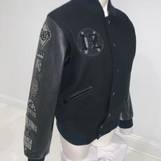 Black-on-Black Varsity Coat