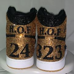 Hall Of Fame Nike Air Jordans Swarovski-Encrusted Shoes