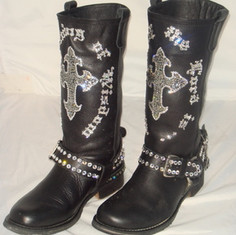 Walk By Faith Biker Boots