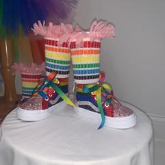 Colorful Kids Vans & Socks