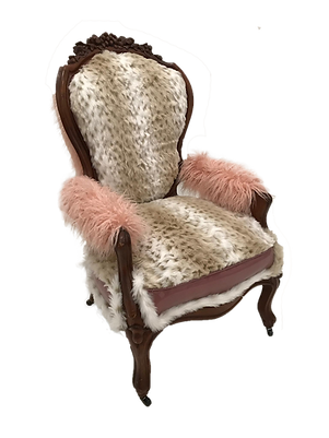 Snow Leopard Re-Upholstered Chair