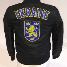 Ukraine Custom Crest Swarovski Jacket