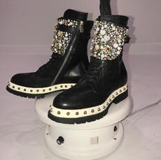 Custom Chunky Crystal Boots