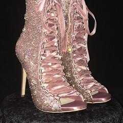 Lace-Up Satin Stilettos