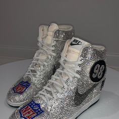 Removeable Number Silver Nike Team Dunks