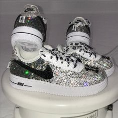 Silver Ombre Air Force Ones
