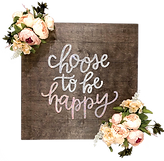 """""""Choose To Be Happy"""" Wall Art Plaque"""