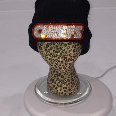 Chiefs Custom Bling Beanie with Pom
